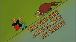 Did You See a Bull Run by Here